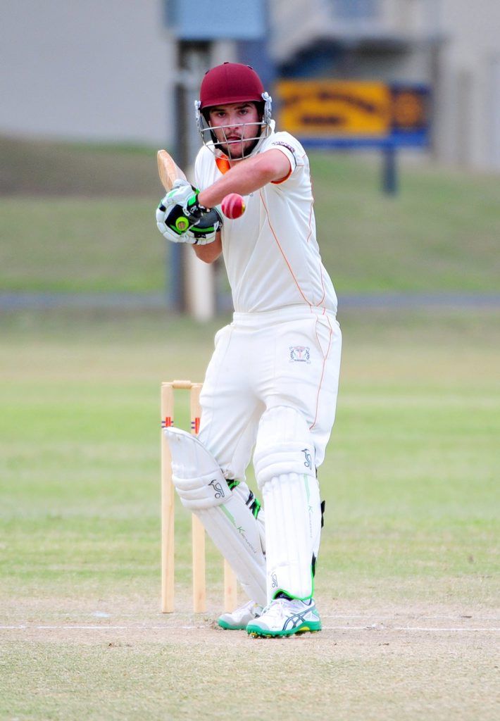 CRICKET: Past Highs' batsman Miles Donovan playing against Brothers at Kendalls Flat on Saturday, 27 September 2014. Photo: Max Fleet / NewsMail