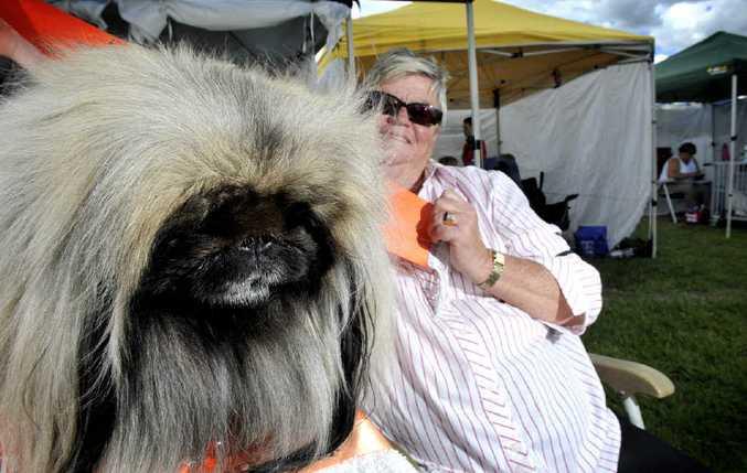 Julie Wardell, of Kiama, with her prize-winning dog Jade.