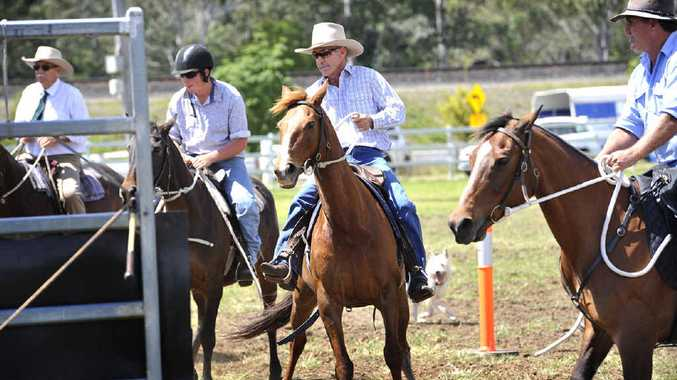 Spectators watch great horsemanship at the show.