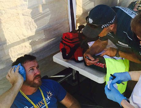 ASSAULT: Police interview Todd Widdicombe.