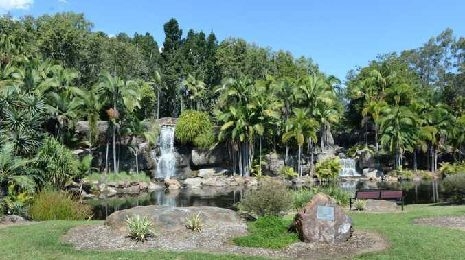 Kershaw Gardens artificial waterfalls in Rockhampton. Photo: Chris Ison / The Morning Bulletin