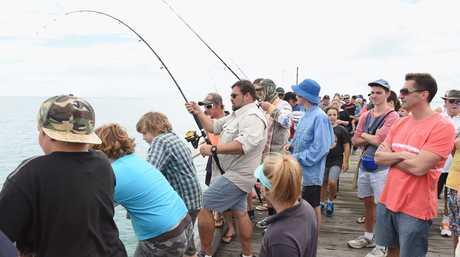 Fishing off the Urangan Pier