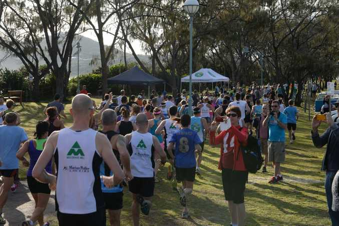 Start of the Byron Bay Lighthouse Run, 2014.