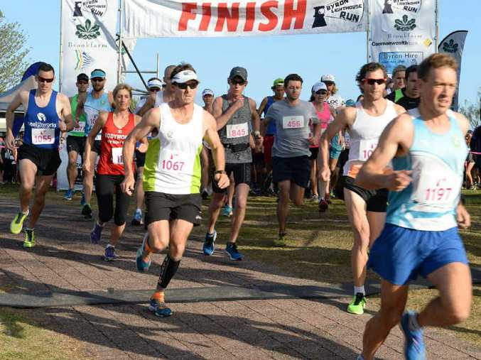 GET SET: Start of the Byron Bay Lighthouse Run, 2014.