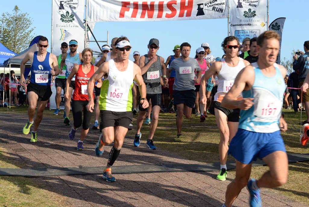 GET SET: Start of the Byron Bay Lighthouse Run, 2014.