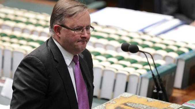 Shadow Minister for Infrastructure and Transport Anthony Albanese during House of Representatives question time at Parliament House in Canberra, Wednesday, Sept. 24, 2014.