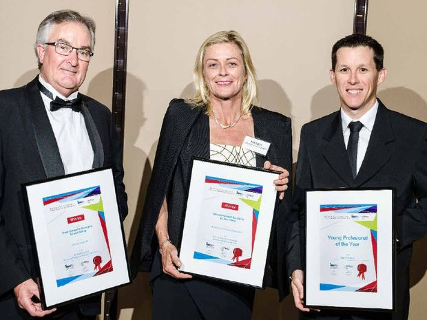 WINNERS: Michael Lamont, Wendy Shepherd Harrison and Darryll Smidt at the awards.