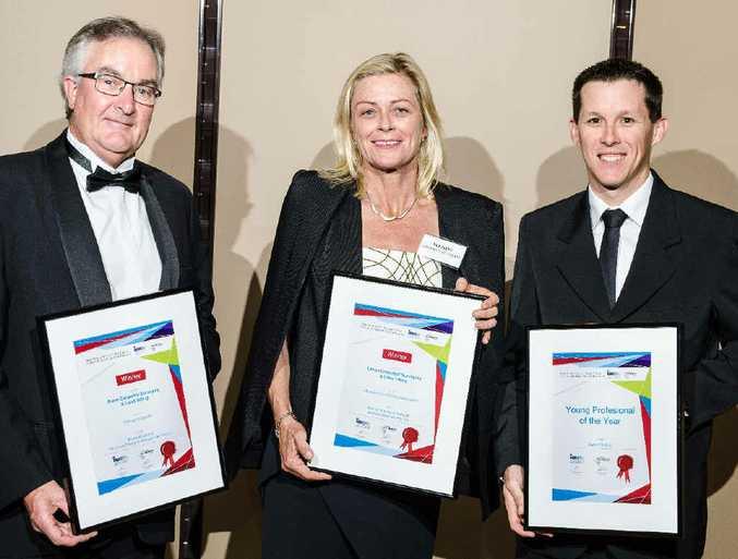 WINNERS: Michael Lamont, Wendy Shepherd Harrison and Darryll Smidt at the awards.