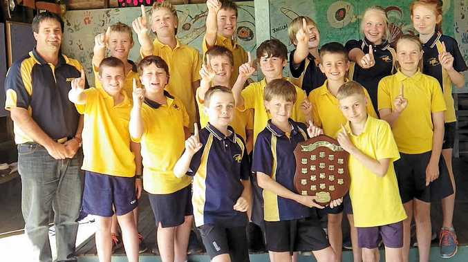 IT'S A KNOCKOUT: The Blakebrook Public School team that won the NSW PSSSA Small Schools Soccer knockout last year. They came fourth at the knockout this year.