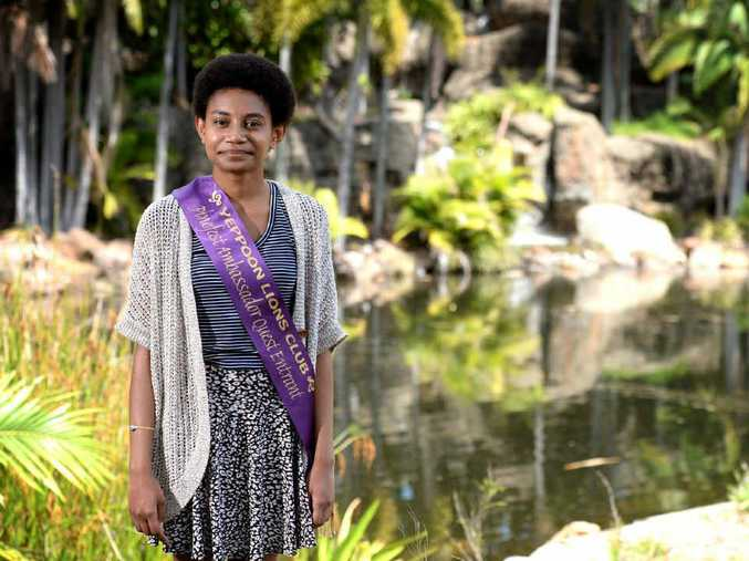 PASSION TO HELP: Rockhampton teen Charnelle Vea Vea is an entrant in this year's Pinefest Ambassador Quest, and is happy to be helping the Lions Club raise mcu-needed funds for charity.