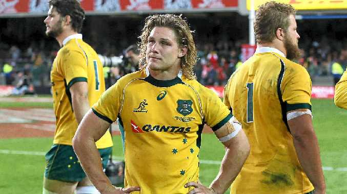 DEJECTED: A disappointed Wallabies captain Michael Hooper after the defeat to South Africa in Cape Town.