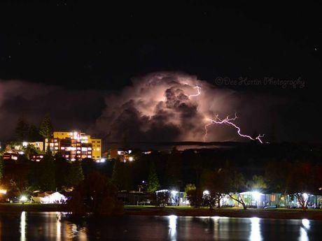 Lightning storm off the coast of Ballina, Sept 25.