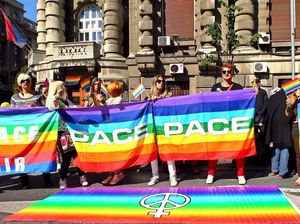 City in lockdown as military keeps order at Gay Pride march