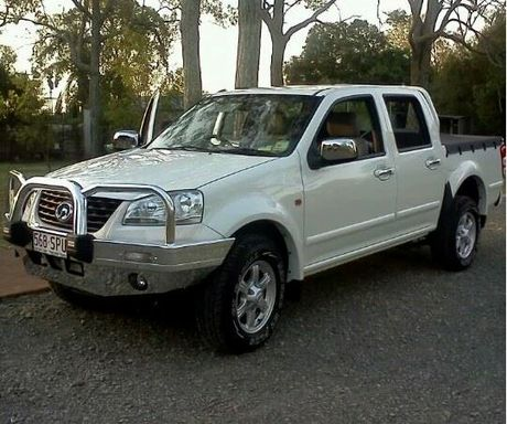 The white 2011 Great Wall dual cab ute stolen from a Toowoomba service station.