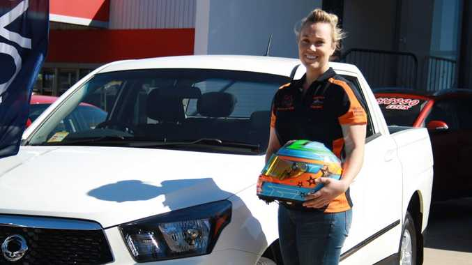 INVITE: Toowoomba's Alexandra Whitley will drive in the Ssangyong Actyon Racing Series in New Zealand.