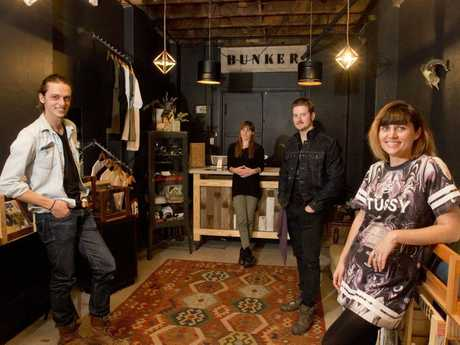 At home in their new Margaret St store are (from left) Carl Larson, Alison Gillmore, Stephen Payton and Kirsty Lee.