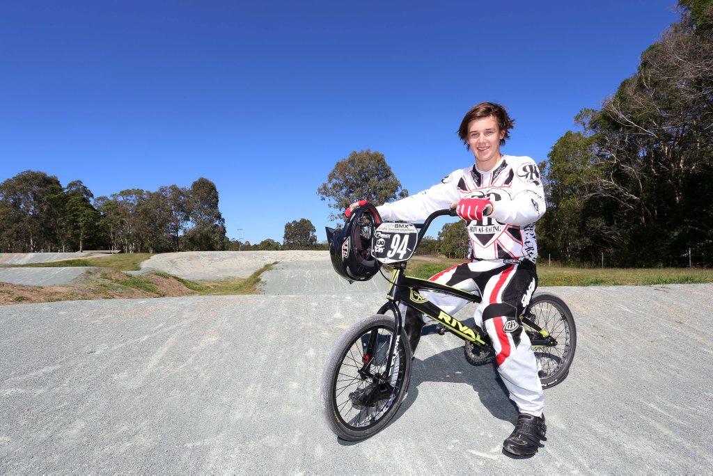 Bmx star Jayce Cunning recently won the Queensland Elite Mens BMX Titles. Photo: Nicola Brander / Sunshine Coast Daily