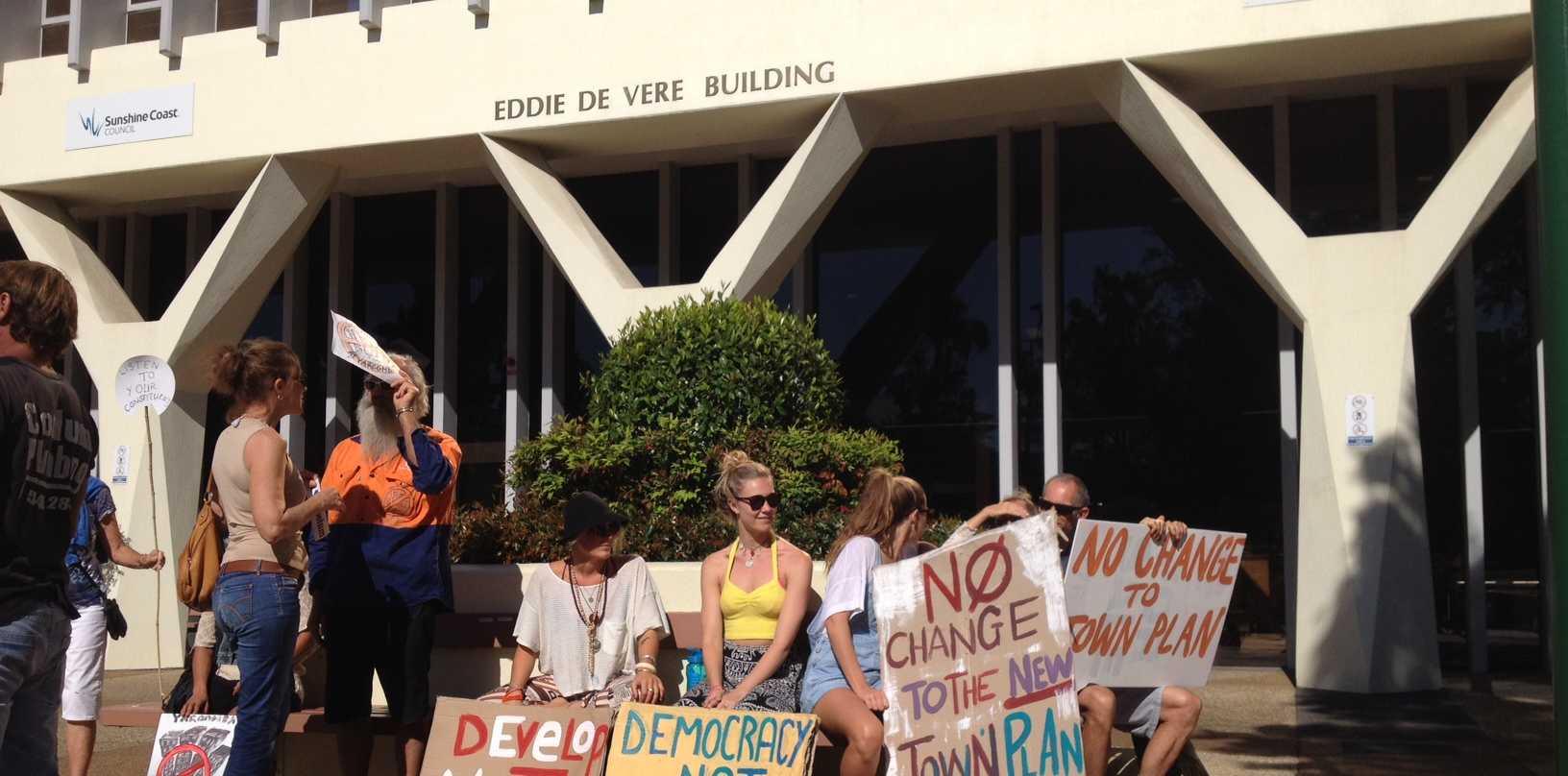 Residents protest Sunshine Coast Council's regional planning scheme changes