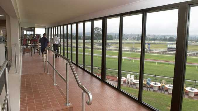 Toowoomba Turf Club's Weetwood Room undergoing renovations last year.
