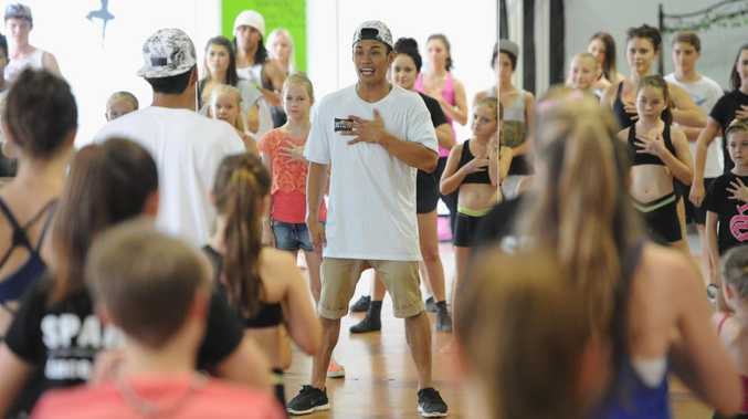 Sparks Dance Centre - Emmanuel Rodriguez from Justice Crew works with dancers. Photo: Alistair Brightman / Fraser Coast Chronicle