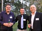 Michael Daniells from Pronto Software, Tim Kelly from USQ and Terry Leister from Pronto Software at Ag in the Asian Century conference in Toowoomba.