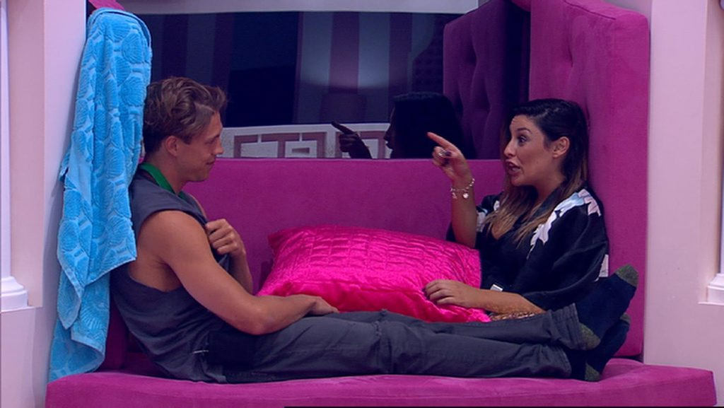 Good mates: Big Brother housemates Ryan Ginns and Katie Schepis.
