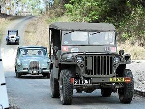 Vintage cars hit 100km of dirt road