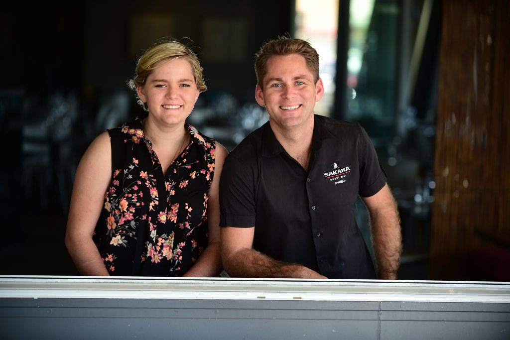 Ben Konig, pictured with sister Molly, is holding a mental health dinner at Fish on Parkyn, Mooloolaba, to raise money and awareness for mental health. Photo: Iain Curry / Sunshine Coast Daily