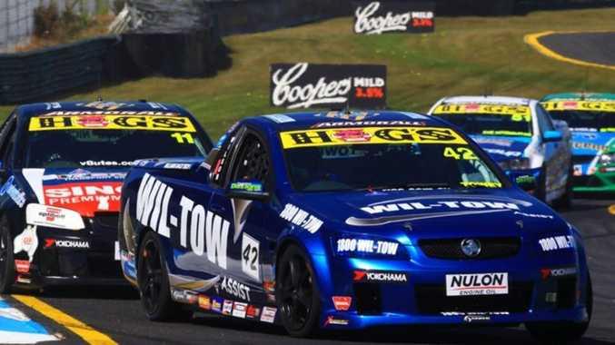Steve Wilson competing in the Australian V8 Ute Racing Series.