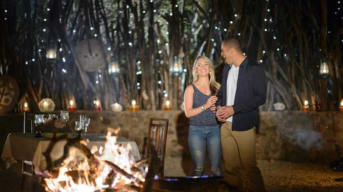 Sam Frost and Blake Garvey during their final date in South Africa.