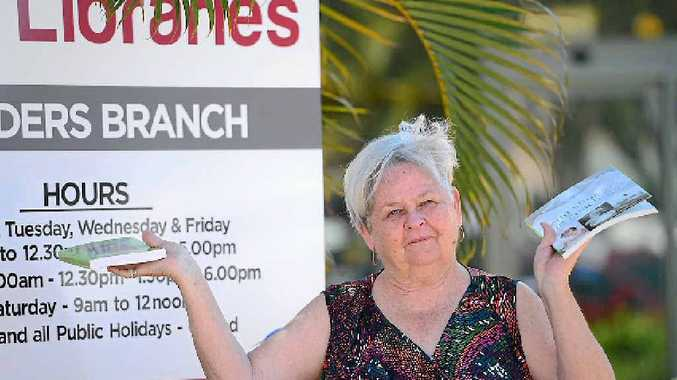 WOULDN'T READ ABOUT IT: Apple Tree Creek resident Judy Petschulies is disappointed the number of non-fiction books at Childers Library has been significantly reduced by Bundaberg Regional Council.