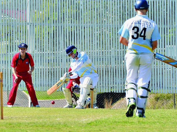 LINING UP: Gympie under-18 captain Zach Gagen during his match-winning innings at Albert Park on Monday.