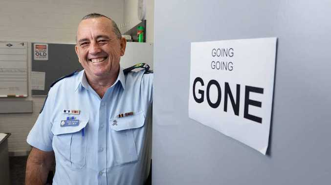 REWARDING CAREER: Senior Sergeant Greg Smith is retiring from the police force after 35 years of service.