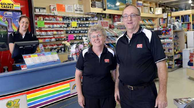 TOP TEAM: Angie Stowart, Janet and Chris Calver take pride in delivering top customer service at Karalee News.
