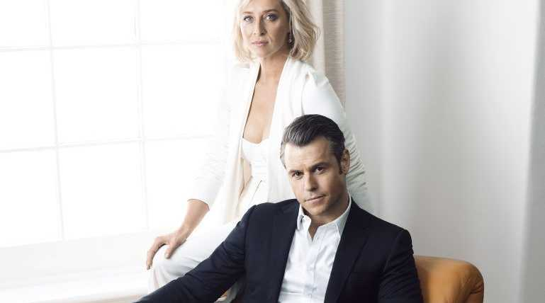 Asher Keddie and Rodger Corser star as political rivals in Party Tricks.