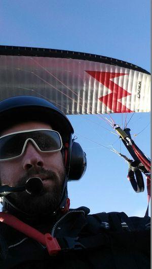 Paramotorist Brendan McKenzie.