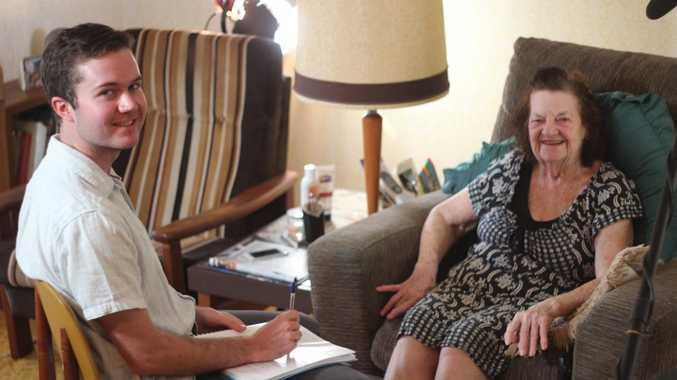 Film director Lonnie Gilroy with Joan Dunlop. Photo Rachael Murray / The Chronicle