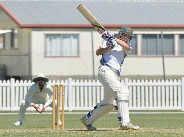 OPENING UP: Sam Heazlett, batting against Indian team Madhya Pradesh, will open for the Mackay Whitsunday Nitros.