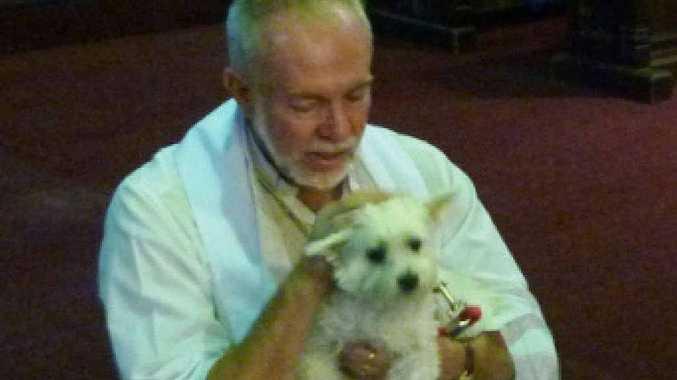 COMPANION CARE: The Rev Rod Winterton and friend.