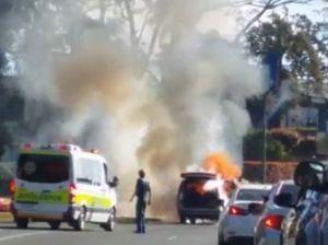 VIDEO: Witness films Range car inferno