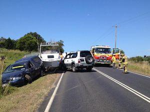 Five in head-on crash on Pialba-Burrum Heads Rd