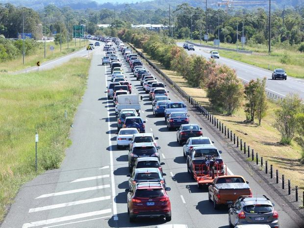 A COMMON SIGHT: The Bruce Highway in gridlock.