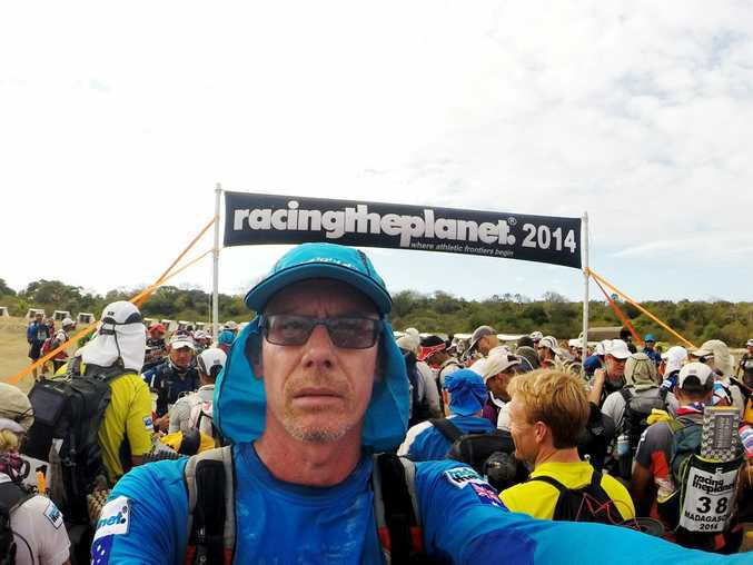 Kevin Swanepoel from Rockhampton during Racing The Planet Madagascar 2014. Photo Contributed