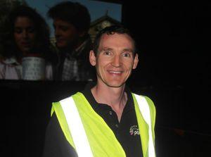 CQ Starlight Cinema Drive In organiser Ben Dyer at the event on Thursday. Photo Austin King / The Morning Bulletin