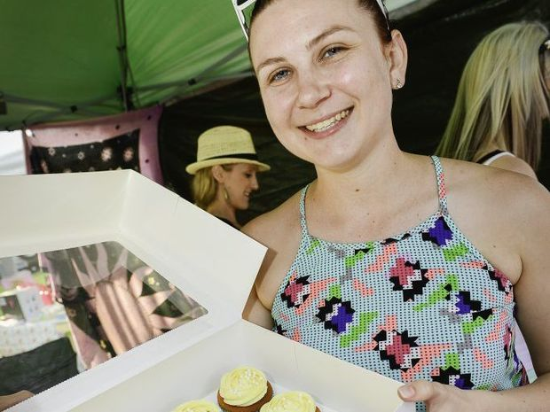 Sarah Walker at her Cute As Cake stall.
