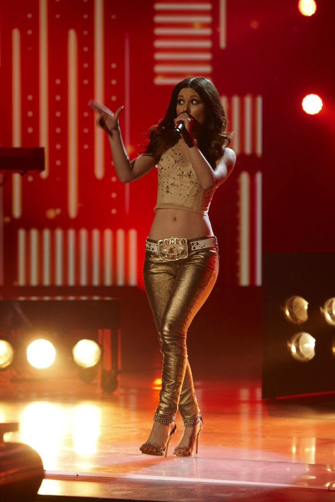 Caitlyn Shadbolt performs on The X Factor.