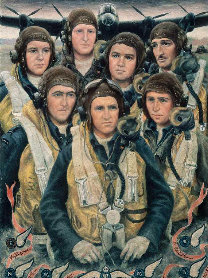 HAUNTING: Stella Bowen (1893–1947) | Bomber Crew 1944 | oil on canvas | 103.8 x 80.8 cm | ART26265