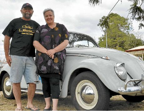 Locals Sam and Janet Reid with their 1963 VW Beetle which was purchased new in the Rose City and has only had two owners.
