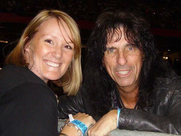 Libby Cattermole with Alice Cooper.