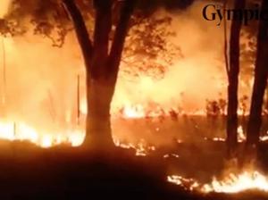 Bush fire at Camp Kerr